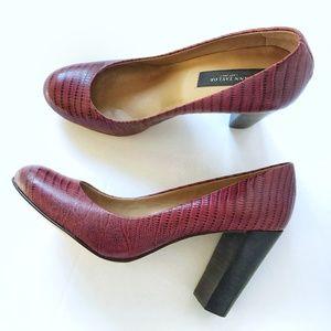 NWOB Ann Taylor Leather Snakeskin Pattern Heels